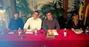 El Primer Teniente de Alcalde, Francisco Gonzalez junto a Antonio Martin, Montse Mayora y Juan Venegas