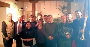 El concejal de Cultura ylos organizadores del ciclo  junto a los pregoneros que leyeron alguno de los fragmentos d ela noche