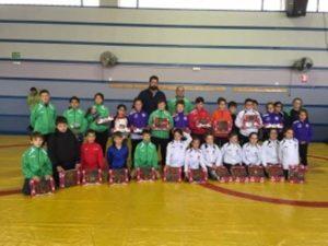 Selección Andaluza de lucha libre olímpica en categorías benjamín y alevín.