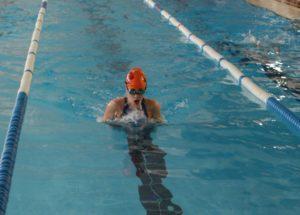 Laura Sánchez, nadadora onubense.