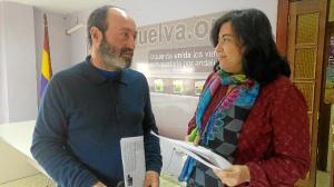 Pedro Jimenez y Maria del Carmen Manuel, portavoz IU en Manzanilla