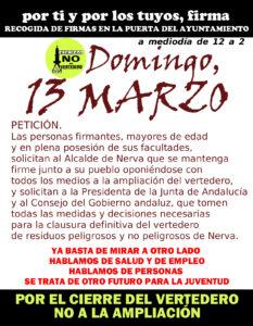 firmas 13 marzo