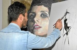 inicio del trabajo de pintura