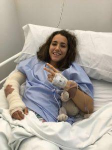 Sara Serrat, portera del Fundación Cajasol Sporting, operada del codo.