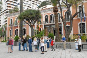 Pasajeros Prinsendam ciudad de Huelva