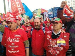 Pedro Jimenez en las marcha de la Dignidad 22 marzo de 2014