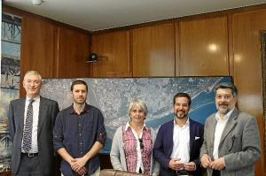Puerto de Huelva Visita del Presidente Comision Fomento Congreso y  Podemos