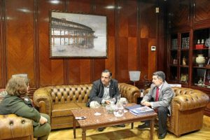 Reunion Presidente PuertoHuelva y Presidente Consejo Economico y Social
