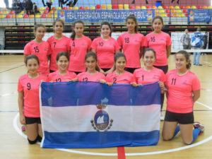Escuela Municipal de San Juan del Puerto de voleibol.