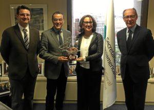 caraballo recibe a la secretaria general iberoamericana (1)