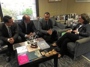 caraballo recibe a la secretaria general iberoamericana (2)
