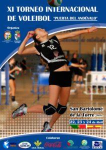 Cartel del Torneo de voleibol de San Bartolomé.