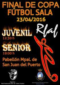 Cartel de la final de la  Copa de fútbol sala en San Juan del Puerto.