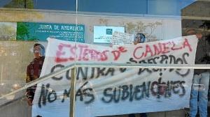 protesta trabajadores esteros de canela 1