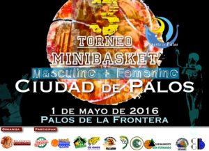 Cartel del Torneo de minibasket Ciudad de Palos.