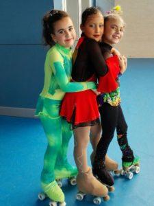 Jóvenes patinadoras.
