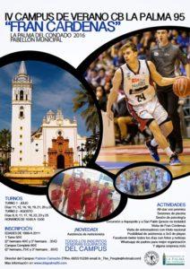 Cartel IV Campus Fran Cardenas CB La Palma 95