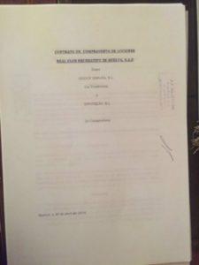 Copia del contrato de compra-venta del Recreativo de Huelva.