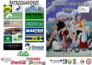 Cartel de la Carrera Nocturna en Ayamonte.