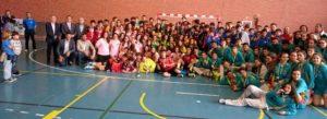 Participantes en el Campeonato de Andalucía infantil de balonmano.