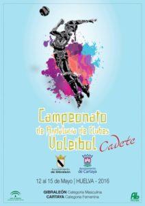 Cartel del Campeonato de Andalucía de voleibol cadete.