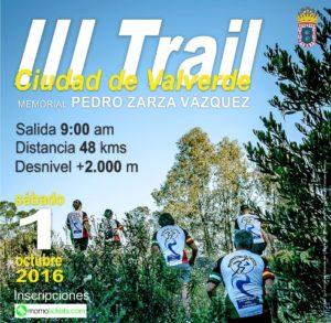 Cartel del III Trail Ciudad de Valverde.