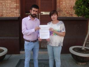 Lozano y Lancha, portavoces del PP y de IU.