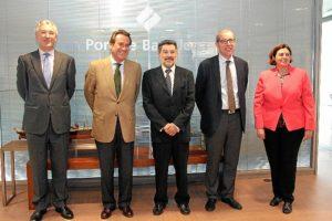 Reunion de los presidentes de los Puertos de Huelva y Barcelona