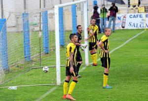 Imagen del último partido jugado por el San Roque de Lepe, contra Recreativo de Huelva, la pasada temporada.