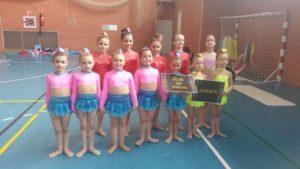 Escuelas Club Gimnasia Rítmica Huelva y Almonte en Isla Cristina.