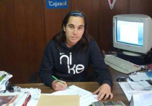 Jenny Benítez, jugadora del Cajasol Sporting.