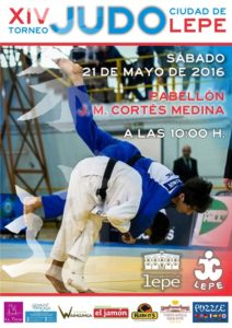 Cartel del torneo de judo en Lepe.