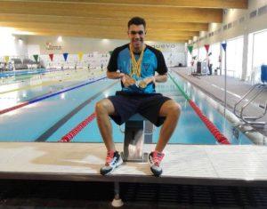 Diego Barba, nadador onubense.