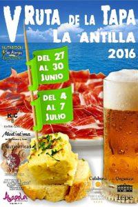 Cartel Feria de la tapa La Antilla 2016 (Large)