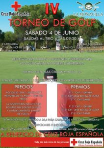 Cartel del torneo de golf de Cruz Roja.