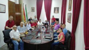 Caravana de salvación de la Federación de Peñas del Recreativo de Huelva en Bonares.