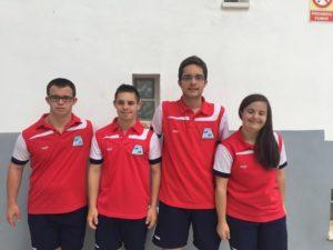 Representantes del CODA de natación.