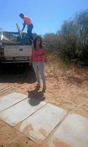 Nerea Ortega, concejala de Playas a pie de estas nuevas pasarelas