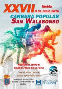 Cartel de la Carrera Popular de San Walabonso en Niebla.
