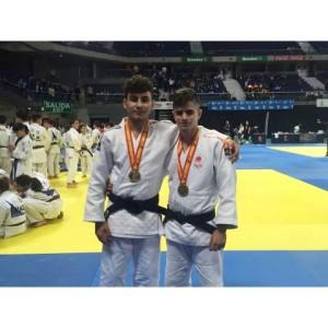 Francis García y Rosendo Laíno, judocas del Huelva TSV.