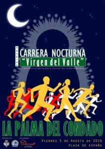 Cartel I Carrera Nocturna Virgen del Valle en La Palma del Condado.