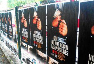 Carteles pensiones en Huelva