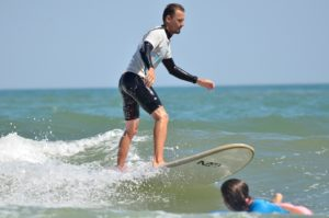 Surf en Punta del Moral.