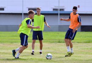 Primer entrenamiento del Recreativo de Huelva.