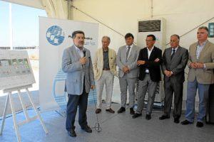 Presidente Puerto de Huelva inicio obras lonja1