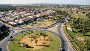 Vista parcial de Aljaraque, municipio con la mayor renta media disponible de Huelva.
