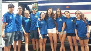Equipo infantil de verano del Club Natación Huelva.