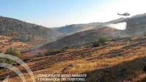 incendio en el cerro de andevalo