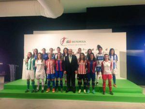 Presentación de la Liga Iberdrola Primera División Femenina.