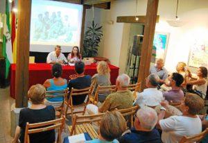 Aspecto del Patio San Francisco durante la conferencia de Aurora Gema Lozano
